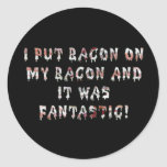 Stacking Bacon Classic Round Sticker