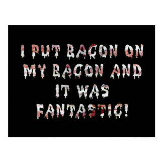 Stacking Bacon Postcard