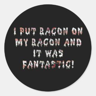Stacking Bacon Round Sticker