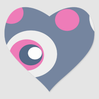 Stacking Circles Heart Sticker