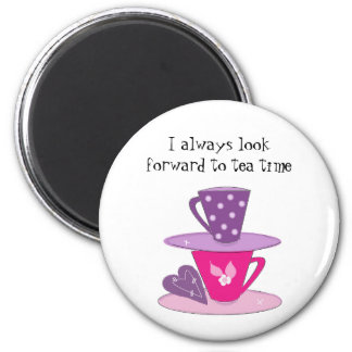 Stacking Teacups 2 Inch Round Magnet