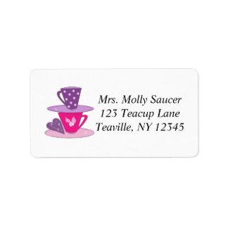 Stacking Teacups Address Label