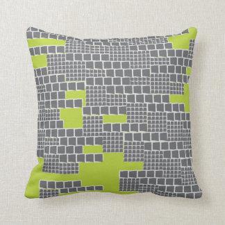 Stacks Lime Throw Pillows