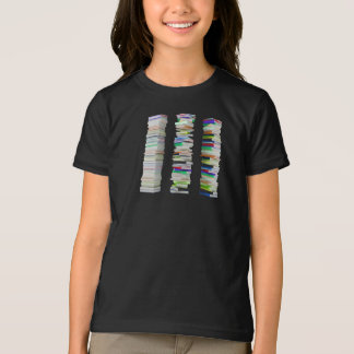 Stacks of Books Girls T-Shirt