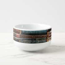 Stacks of Books Soup Mug