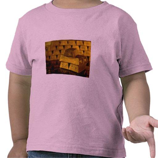 Stacks of gold bars tee shirt