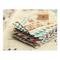 Stacks of Love Letters Postcard