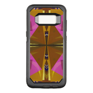 Stacks - Pink and Rust Abstract with Your Text OtterBox Commuter Samsung Galaxy S8 Case