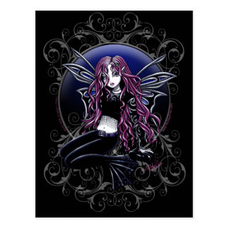 Stacy Magic Mirror Pink Fairy Fantasy Postcard