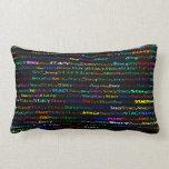 Stacy Text Design I Lumbar Pillow