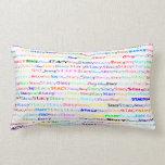 Stacy Text Design II Lumbar Pillow