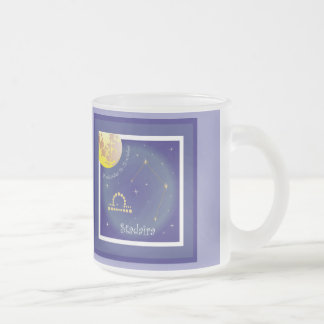 Stadaira 24 more settember fin 23 october cup 10 oz frosted glass coffee mug