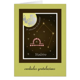 Stadaira 24 more settember fin 23 of october map greeting card