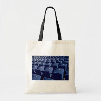 Stadium seats texture canvas bag