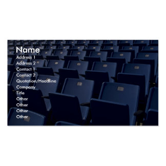 Stadium seats texture Double-Sided standard business cards (Pack of 100)