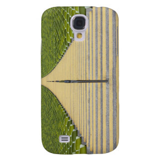 Stadium stairway between rows of green seats samsung galaxy s4 case
