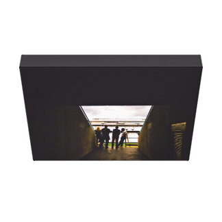 Stadium Themed, A Bunch Of People Standing And Tal Canvas Print