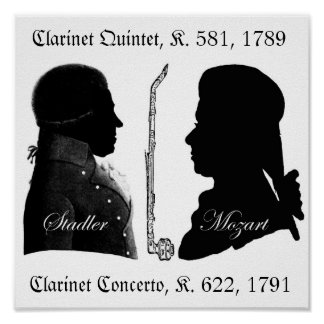 Stadler y poster de Mozart