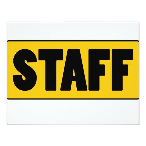 Staff 4.25x5.5 Paper Invitation Card
