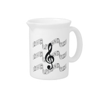 Staff and Treble Clef Beverage Pitchers