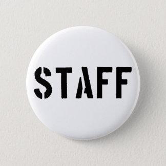 Staff black and white button
