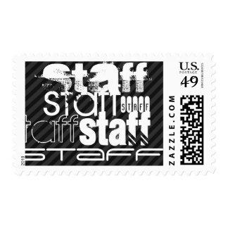 Staff; Black & Dark Gray Stripes Postage