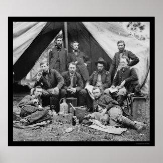 Staff de general Porter's con George Custer 1862 Posters