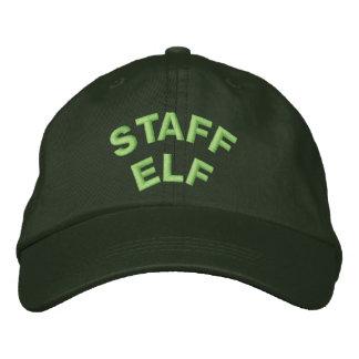 STAFF ELF EMBROIDERED BASEBALL HAT