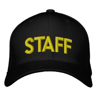 STAFF EMBROIDERED BASEBALL CAP