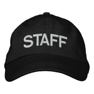 STAFF EMBROIDERED BASEBALL CAP