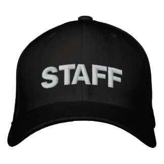 STAFF EMBROIDERED BASEBALL HAT