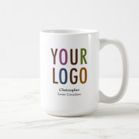 Staff Employee Mug Custom Name Company Logo Brand