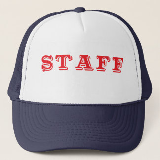 Staff Event Caps Red Font