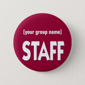 Staff identification badge custom button