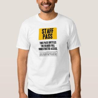 Staff Pass T Shirts