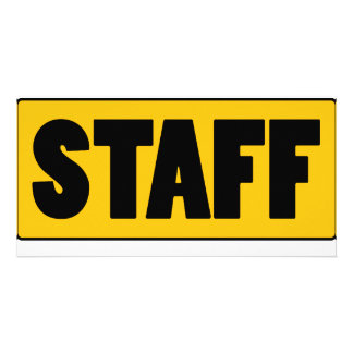 Staff Custom Photo Card
