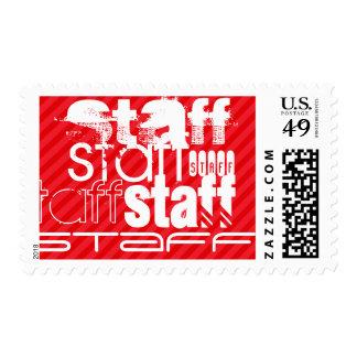 Staff; Scarlet Red Stripes Postage