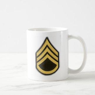 STAFF SERGEANT E-6 CLASSIC WHITE COFFEE MUG