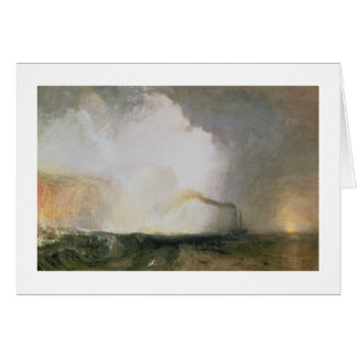 Staffa, Fingal's Cave, 1832 (oil on canvas) Greeting Card
