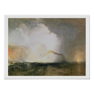 Staffa, Fingal's Cave, 1832 (oil on canvas) Poster