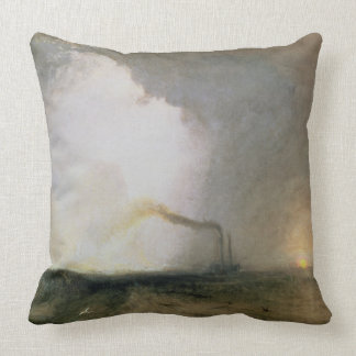 Staffa, Fingal's Cave, 1832 (oil on canvas) Throw Pillow