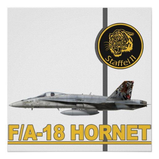 Staffel 11 Tiger F/A-18 Hornet Print