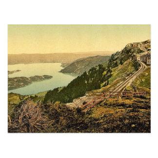 Staffel and Zug Lake, Rigi, Switzerland classic Ph Postcard