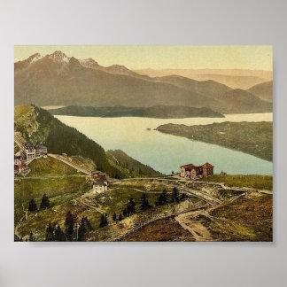 Staffel y soporte Pilatus Rigi clase de Suiza Posters