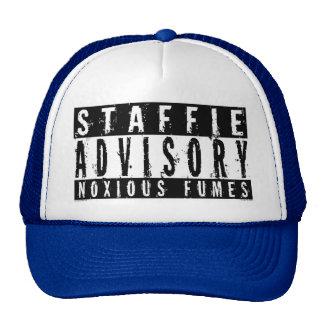 Staffie Advisory Noxious Fumes Trucker Hat