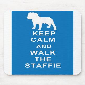 Staffie Keep Calm Walk Staffie Mouspad Birthday Mouse Mats
