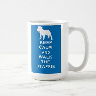Staffie Keep Calm Walk Staffie Mug Birthday