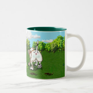 STAFFIE SMILES - Bottoms Up! Two-Tone Coffee Mug