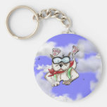 Staffie Smiles - sky diver - key chain