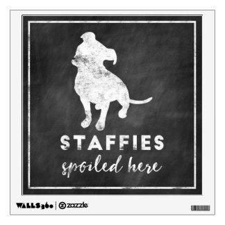 Staffies Spoiled Here Vintage Chalkboard Wall Sticker